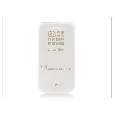 Samsung SM-G850 Galaxy Alpha szilikon hátlap - Ultra Slim 0,3 mm - transparent