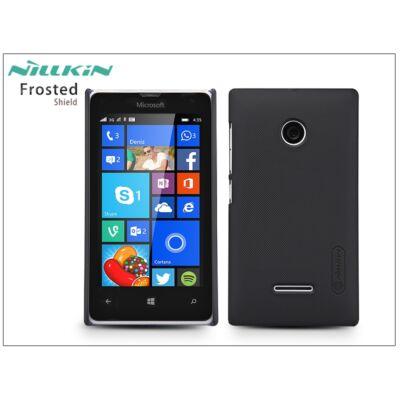 Microsoft Lumia 532 hátlap képernyővédő fóliával - Nillkin Frosted Shield - fekete