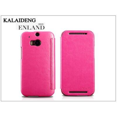 HTC One M8 flipes tok - Kalaideng Enland Series - dark pink