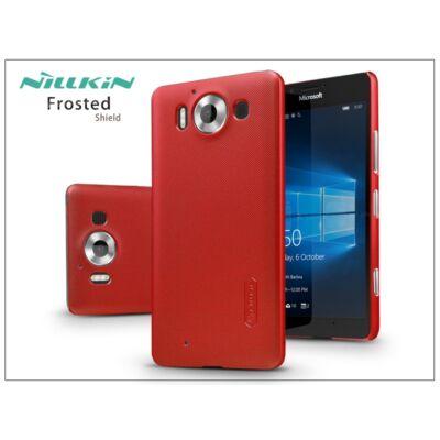 Microsoft Lumia 950 hátlap képernyővédő fóliával - Nillkin Frosted Shield - piros