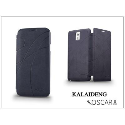Samsung SM-G900 Galaxy S5 flipes tok - Kalaideng Oscar 2 Series - dark blue