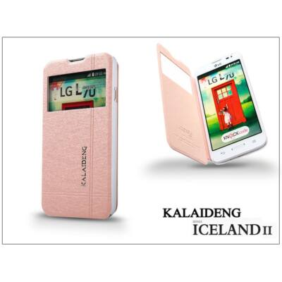 LG L70 D320N flipes tok - Kalaideng Iceland 2 Series View Cover - golden