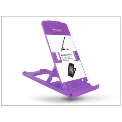 Univerzális asztali telefon + tablet tartó - lila