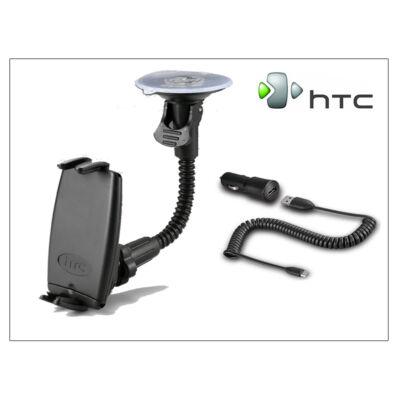 HTC gyári autós telefontartó + micro USB szivargyújtós töltő - HTC CU G250
