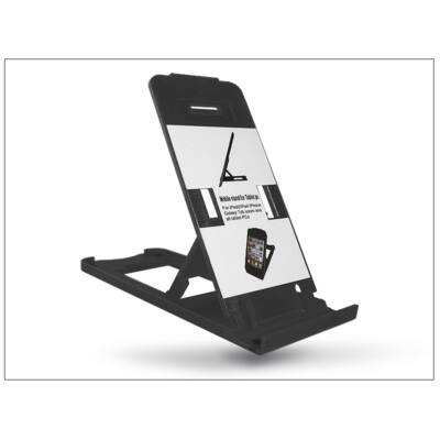 Univerzális asztali telefon + tablet tartó - fekete