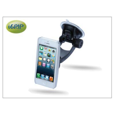 Apple iPhone 5 autós telefontartó - iGrip Traveler Kit - aluminium