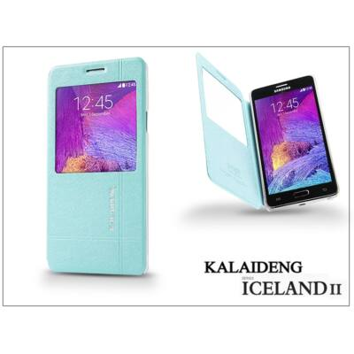 Samsung SM-N910 Galaxy Note 4 flipes tok - Kalaideng Iceland 2 Series View Cover - turquoise blue