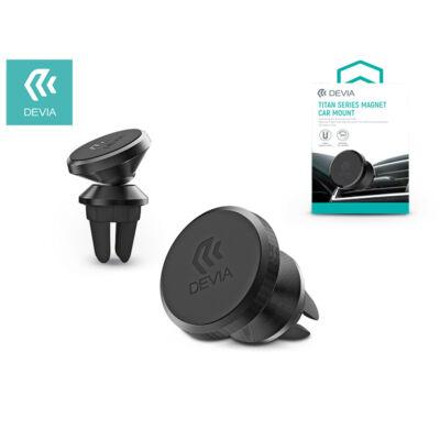 Univerzális szellőzőrácsba illeszthető mágneses autós tartó - Devia Titan Series Magnet Car Mount - black