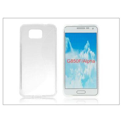 Samsung SM-G850 Galaxy Alpha szilikon hátlap - S-Line - transparent