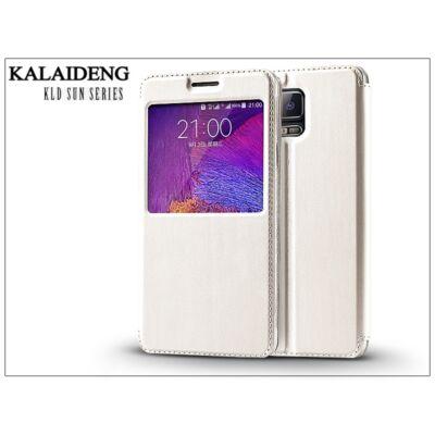 Samsung SM-N910 Galaxy Note 4 flipes tok - Kalaideng Sun Series View Cover - white