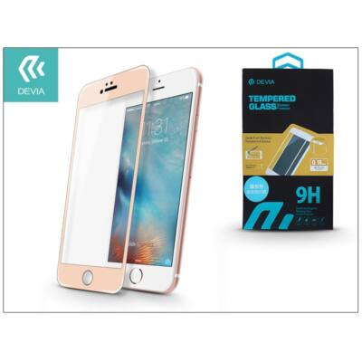 Apple iPhone 6/6S üveg képernyő- + Crystal hátlapvédő fólia - Devia Jade Full Screen Tempered Glass 0.18 mm - 1 + 1 db/csomag - ch. gold