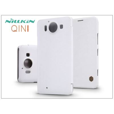 Microsoft Lumia 950 oldalra nyíló flipes tok - Nillkin Qin - fehér
