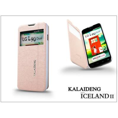 LG L90 D405 flipes tok - Kalaideng Iceland 2 Series View Cover - golden