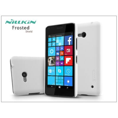 Microsoft Lumia 640 hátlap képernyővédő fóliával - Nillkin Frosted Shield - fehér