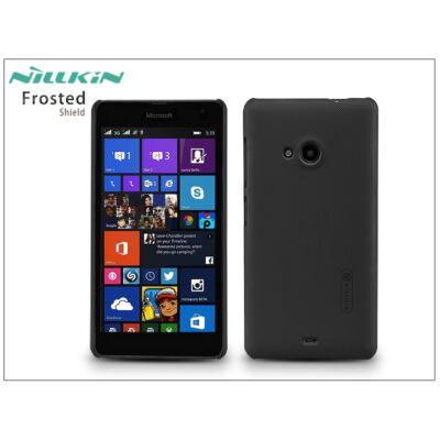 Microsoft Lumia 535 hátlap képernyővédő fóliával - Nillkin Frosted Shield - fekete