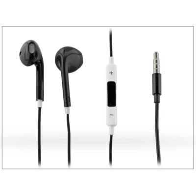 Univerzális sztereó felvevős fülhallgató - 3,5 mm jack - Earpods - műanyag dobozos - black/white