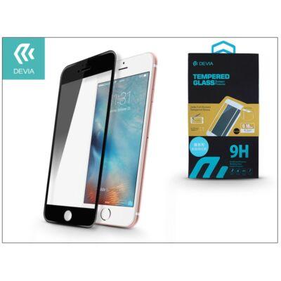 Apple iPhone 6/6S üveg képernyő- + Crystal hátlapvédő fólia - Devia Jade Full Screen Tempered Glass 0.18 mm - 1 + 1 db/csomag - black