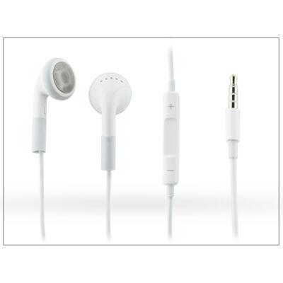 Univerzális sztereó felvevős fülhallgató - 3,5 mm jack - white