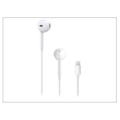 Apple iPhone eredeti távirányítós, sztereó headset Lightning csatlakozóval, mikrofonnal - MMTN2ZM/A - fehér