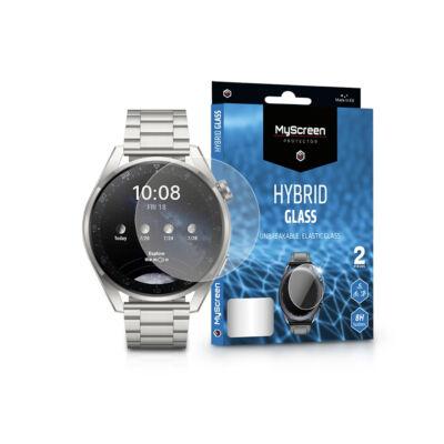 Huawei Watch 3/Watch 3 Pro (48 mm) rugalmas üveg képernyővédő fólia - MyScreen Protector Hybrid Glass - 2 db/csomag - transparent