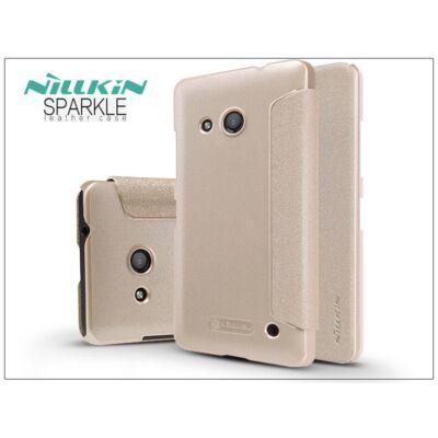 Microsoft Lumia 550 oldalra nyíló flipes tok - Nillkin Sparkle - golden