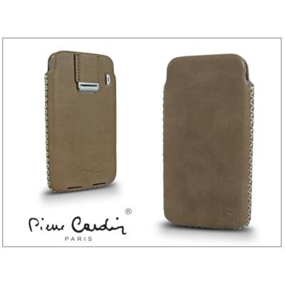 Pierre Cardin valódi bőrtok - Apple iPhone 4/4S - Type-1 - beige