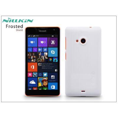 Microsoft Lumia 535 hátlap képernyővédő fóliával - Nillkin Frosted Shield - fehér