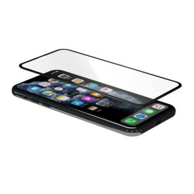 iGlass 3D Round kijelzővédő üvegfólia - iPhone XR/11 - fekete