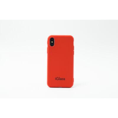 iGlass Case kemény tok - iPhone SE 2020 - piros